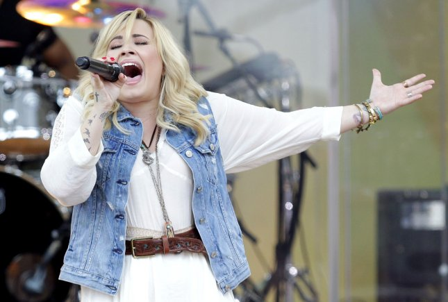 Demi Lovato performs on the Good Morning America Show at the Rumsey Playfield/SummerStage in Central Park in New York City on June 28, 2013. UPI/John Angelillo
