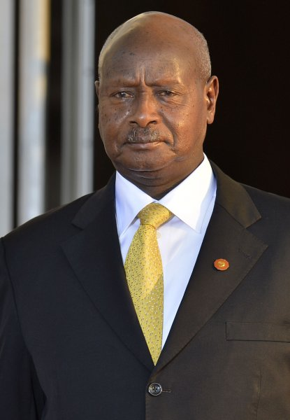 President Yoweri Museveni is one of several candidates in Uganda's presidential election, held Thursday despite long lines and delays at polling stations. File Photo by Mike Theiler/UPI