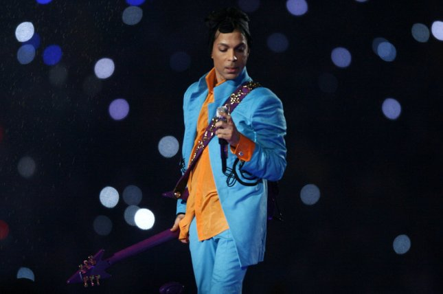 Prince performs at half time at Super Bowl XLI at Dolphin Stadium in Miami on February 4, 2007. Sources indicate Prince was found with prescription painkillers at the time of his death. The DEA has been called to help with the death investigation. File Photo by Gary C. Caskey/UPI