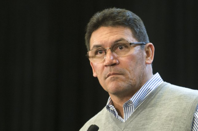 Carolina Panthers head coach Ron Rivera. File photo by Kevin Dietsch/UPI
