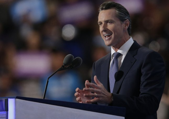 California's Democratic Governor Gavin Newsom's executive order will give a reprieve to 737 inmates on death row. Photo by Ray Stubblebine/UPI