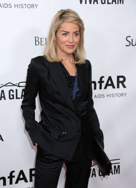 Sharon Stone arrives on the red carpet during the 2013 amfAR Inspiration Gala at Milk Studios in Los Angeles on December 12, 2013. UPI/David Silpa