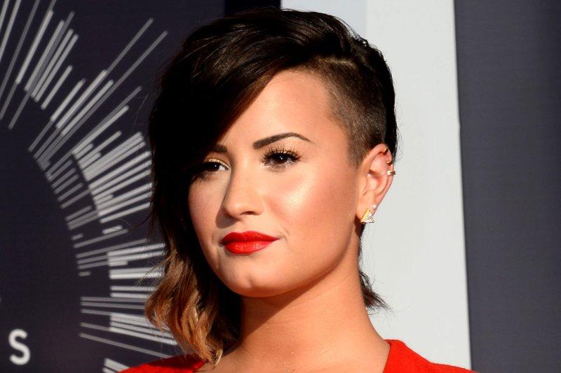Demi Lovato says Kim Kardashian helped her to accept her curves. UPI/Jim Ruymen
