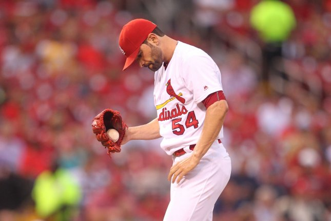 Jaime Garcia, shown here as a member of the St. Louis Cardinals, is now a member of the Atlanta Braves and reportedly drawing the attention of the Minnesota Twins as the trading deadline nears. Photo by Bill Greenblatt/UPI