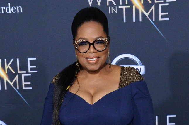 Oprah Winfrey shared video of shocked and happy followers reacting to her nice remarks online. File Photo by Jim Ruymen/UPI