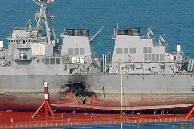Seventeen U.S. sailors died in October 12, 2000, after an al-Qaida suicide bomber attacked the USS Cole. File Photo courtesy of the U.S. Navy