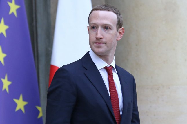Facebook CEO Mark Zuckerberg leaves Elysee Palace in Paris, France, on May 10 after meeting with French President Emmanuel Macron to discuss Internet regulation following the attacks on two mosques in Christchurch, New Zealand. Photo by David Silpa/UPI
