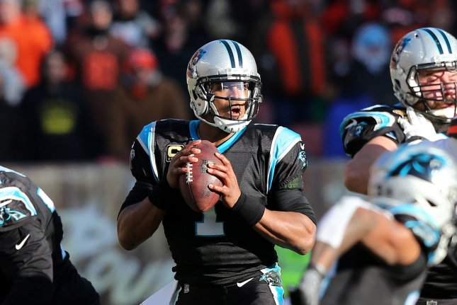 Carolina Panthers quarterback Cam Newton had the most accurate season of his career in 2018. File Photo by Aaron Josefczyk/UPI