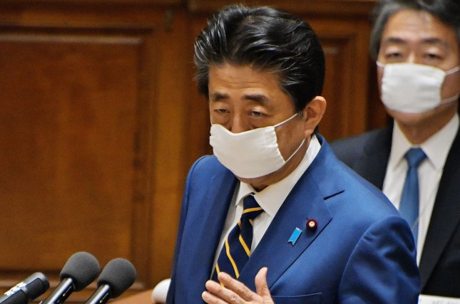 Japan's Prime Minister Shinzo Abe addressed the issue of Japanese citizens kidnapped to North Korea on Wednesday. File Photo by Keizo Mori/UPI