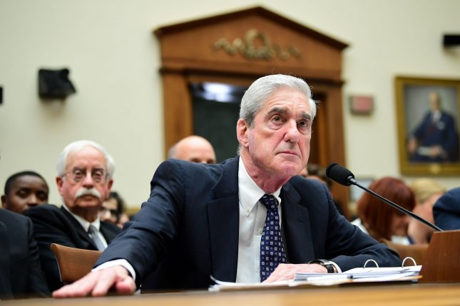 Former special counsel Robert Mueller details the Justice Department's Russia investigation at a hearing before the House intelligence committee on Capitol Hill in Washington, D.C., on July 24, 2019. File Photo by Kevin Dietsch/UPI