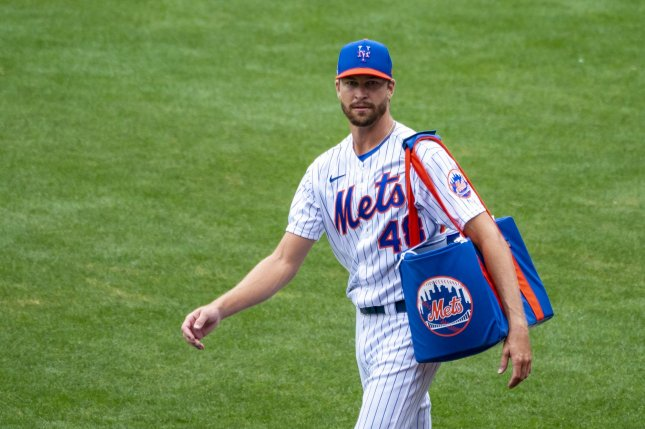 New York Mets starting pitcher Jacob deGrom has allowed just four earned runs this season. File Photo by Corey Sipkin/UPI