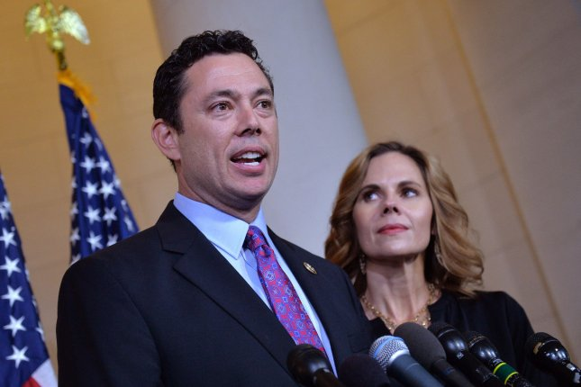 Rep. Jason Chaffetz, seen here in October, lambasted Flint Emergency Manager Darnell Earley for failing to attend a Congressional hearing to determine fault in the city's water contamination. Photo by Kevin Dietsch/UPI