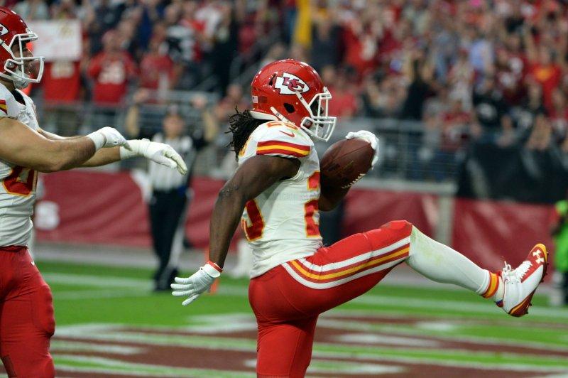 Kansas City Chiefs running back Jamaal Charles. UPI/Art Foxall