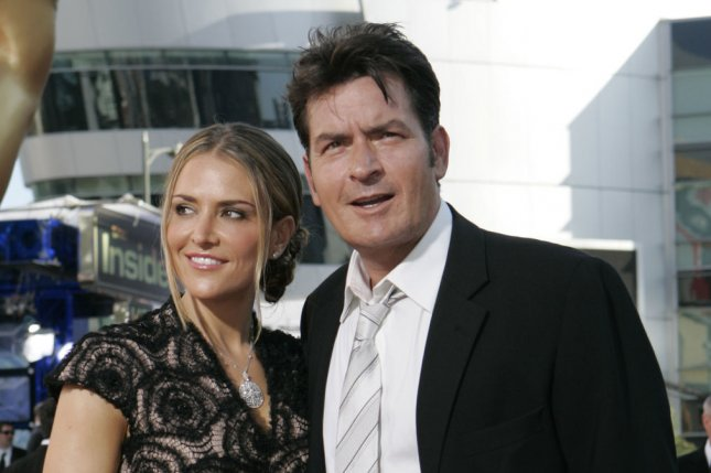 Charlie Sheen and ex wife Brooke Mueller arrive at the 61st Primetime Emmy Awards on September 20, 2009. Mueller has been hospitalized for evaluation following a welfare check with the pair's twin sons after they went missing. File Photo by Lori Shepler/UPI