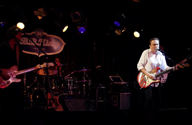 David Cassidy, pictured performing at B.B. Kings in New York City on July 19, 2012, said in an interview on Monday that he has been diagnosed with dementia. Cassidy had already announced his retirement from performing music at the beginning of February, and has at least two shows scheduled before he retires at the end of 2017. File photo by John Angelillo/UPI