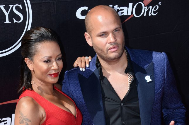 Mel B (L) and Stephen Belafonte attend the ESPY Awards on July 15, 2015. The singer was granted a temporary restraining order against Belafonte on Monday. File Photo by Jim Ruymen/UPI