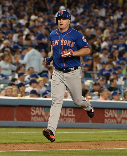 Jay Bruce and the New York Mets . Photo by Jim Ruymen/UPI