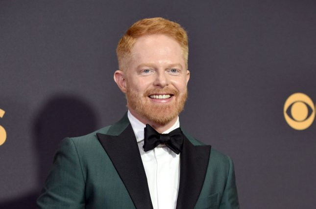 Jesse Tyler Ferguson arrives for the 69th annual Primetime Emmy Awards at Microsoft Theater in Los Angeles on September 17. The actor turns 42 on October 22. File Photo by Christine Chew/UPI