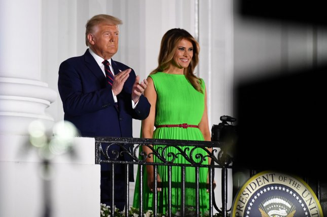 President Donald Trump and first lady Melania Trump both tested positive for COVID-19 and will quarantine beginning Friday.Photo by Kevin Dietsch/UPI