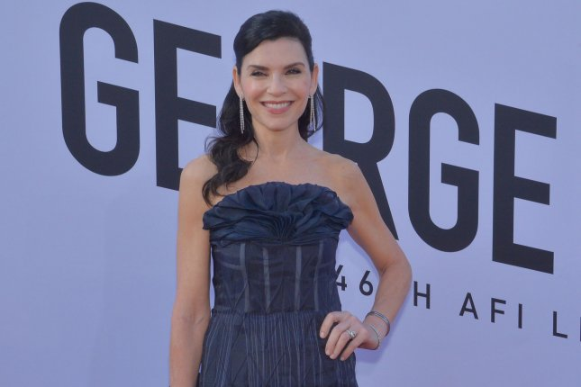 Julianna Margulies has joined the Apple TV+ series The Morning Show, starring Jennifer Aniston and Reese Witherspoon. File Photo by Jim Ruymen/UPI
