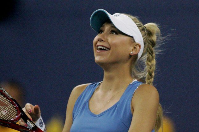 Anna Kournikova competes in the U.S. Open on September 9, 2010. The former tennis pro and Enrique Iglesias have been together since 2001. File Photo by Monika Graff/UPI