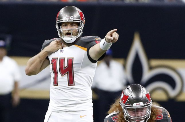 5cb54f03 Buccaneers pass baton to Ryan Fitzpatrick against Panthers - UPI.com