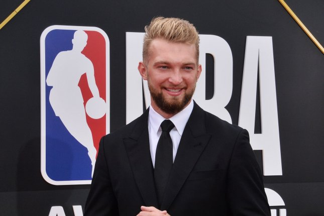 Indiana Pacers star forward Domantas Sabonis has averaged 18.5 points, 12.4 rebounds and five assists per game this season. File Photo by Jim Ruymen/UPI