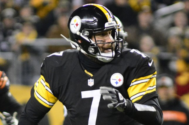 Pittsburgh Steelers quarterback Ben Roethlisbergercompleted 65.6% of his passes for 3,803 yards with 33 touchdowns and 10 interceptions last season. File Photo by Archie Carpenter/UPI