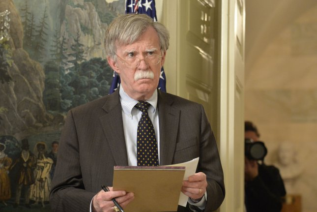 National security adviser John Bolton is not ruling out a denuclearization model that was applied to Libya for North Korea. File Photo by Mike Theiler/UPI