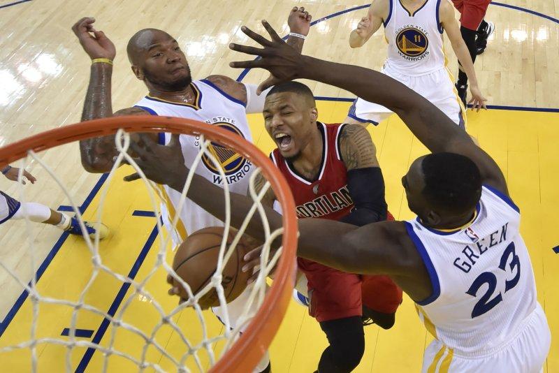Damian Lillard and the Portland Trail Blazers face the Utah Jazz on Friday. Pool photo by John G. Mabanglo/UPI