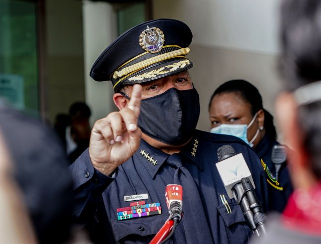 Miami Police Chief Art Acevedo has been suspended pending termination, city officials said Monday. File Photo by Jemal Countess/UPI
