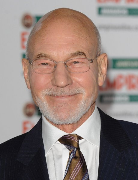 British actor Patrick Stewart attends The Empire Awards at Grosvenor Hotel in London on March 28, 2010. UPI/Rune Hellestad