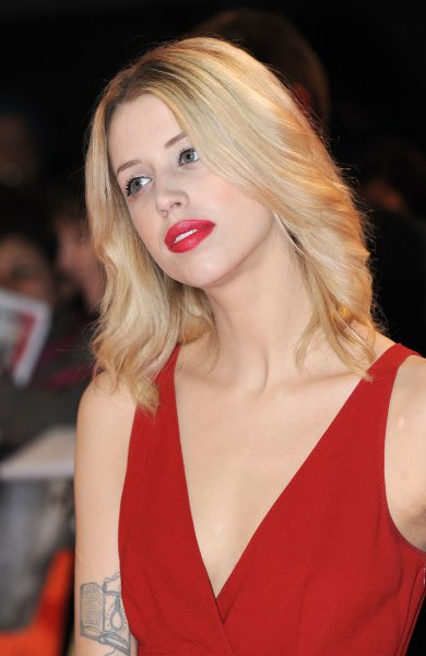 English journalist, television presenter and model Peaches Geldof attends The UK premiere of The Twilight Saga: Breaking Dawn Part 2 at The Odeon Leicester Square, Vue West End and Empire Leicester Square in London on November 14, 2012. UPI/Paul Treadway