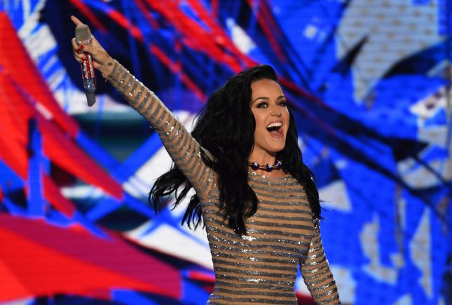 Katy Perry performs during day four of the Democratic National Convention at Wells Fargo Center in Philadelphia, Pa. on July 28, 2016. Photo by Pat Benic/UPI