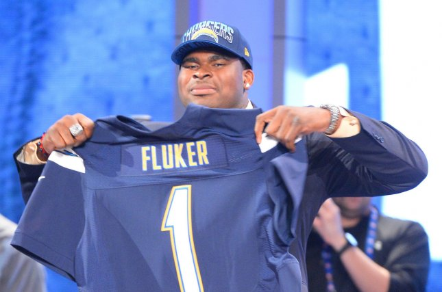 The then-San Diego Chargers selected D.J. Fluker in the first round of the 2013 NFL Draft. Since entering the league, he has appeared in 92 career games with 88 starts. File Photo by Rich Kane/UPI