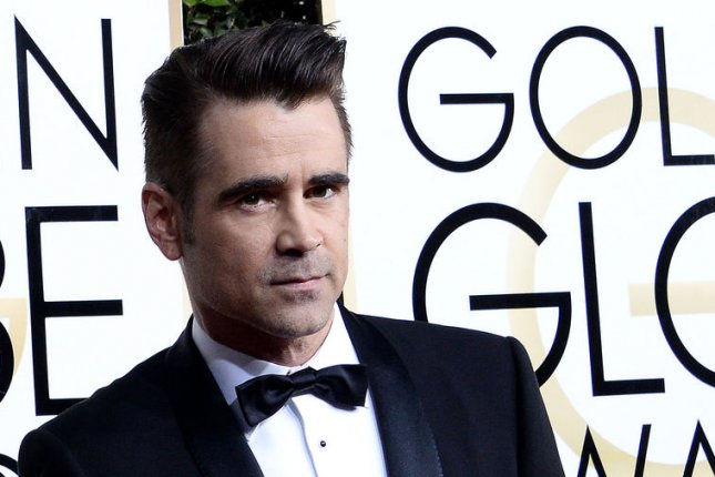 Colin Farrell at the Golden Globe Awards on January 8. The actor plays John McBurney in The Beguiled. File Photo by Jim Ruymen/UPI