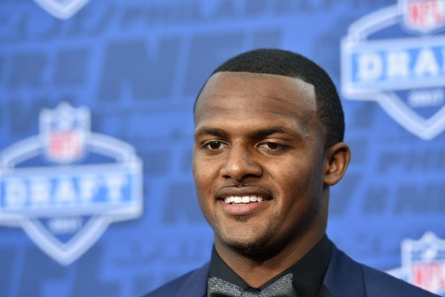 Former Clemson quarterback Deshaun Watson walks the red carpet prior to the 2017 NFL Draft on April 27 at the NFL Draft Theater in Philadelphia, PA. File photo by Derik Hamilton/UPI