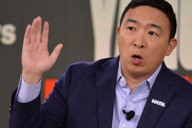New York businessman Andrew Yang announced that he will end his presidential campaign on Tuesday. Photo by Mike Theiler/UPI