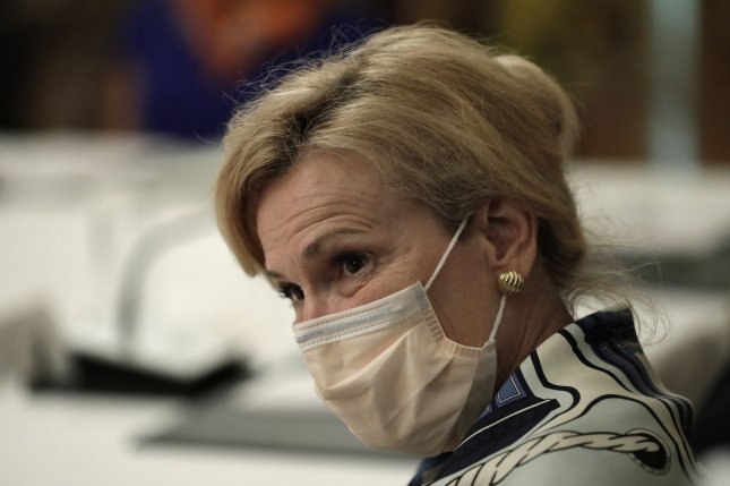 White House coronavirus response coordinator Dr. Deborah Birx said some hospitals have failed to report information daily or completely. Photo by Yuri Gripas/UPI