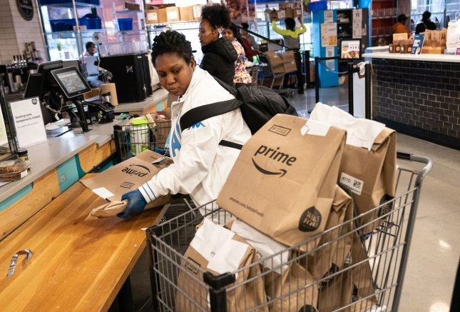 California has been requesting information from Amazon since May over its treatment of workers amid the coronavirus pandemic. Photo by Kevin Dietsch/UPI