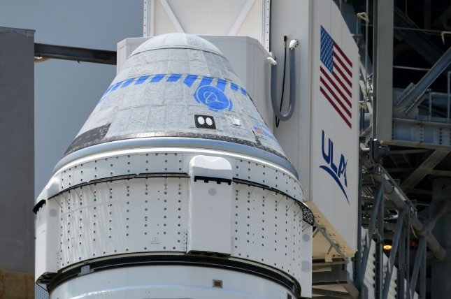 Boeing's Starliner spacecraft is prepared on Thursday for launch to the International Space Station from Cape Canaveral Space Force Station in Florida on Thursday. Photo by Joe Marino/UPI