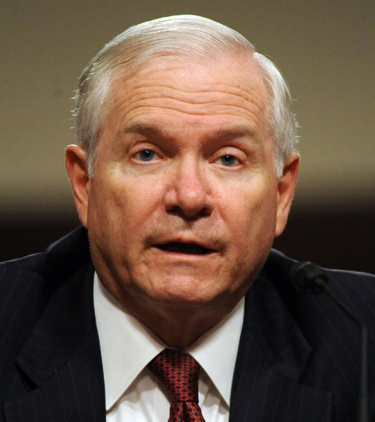 Defense Secretary Robert Gates testifies before the Senate Armed Services Committee regarding U.S. military involvement in Libya on Capitol Hill in Washington on March 31, 2011. UPI/Roger L. Wollenberg
