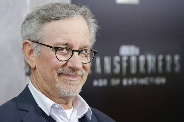 Steven Spielberg arriving on the red carpet for the premiere of Transformers: Age Of Extinction in 2014. Spielberg spoke out about not wanting to replace Harrison Ford in a future Indiana Jones film. File Photo by John Angelillo/UPI