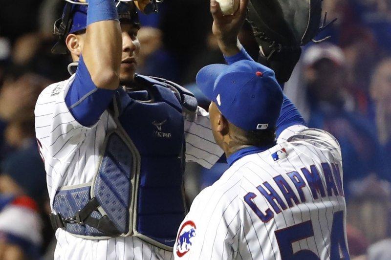 separation shoes 7c89c 31b9a Aroldis Chapman, Chicago Cubs send World Series back to ...