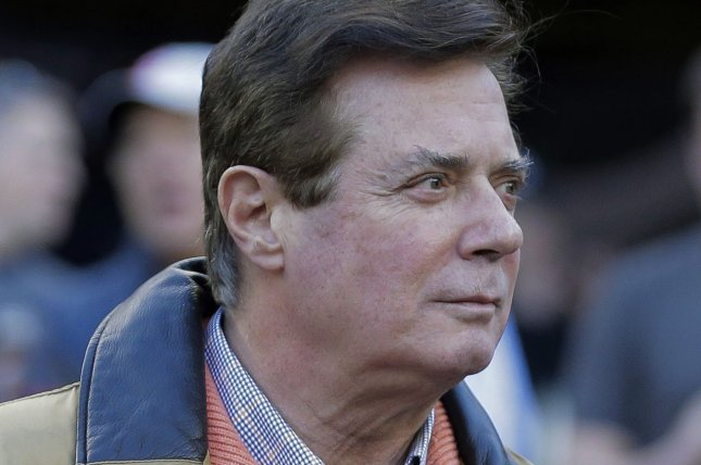 Paul Manafort, former campaign manager for President Donald Trump, surrendered to federal authorities in Washington, D.C., on Monday. File Photo by Ray Stubblebine/UPI
