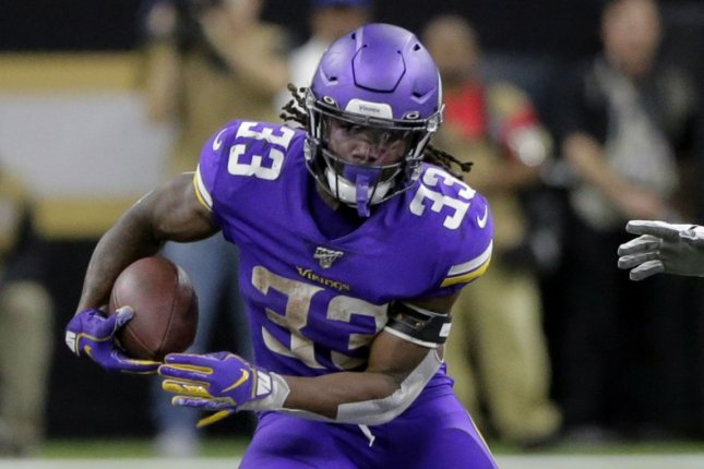 Minnesota Vikings running back Dalvin Cook will not play against the Detroit Lions on Sunday in Detroit after his father died on Tuesday. File Photo by AJ Sisco/UPI