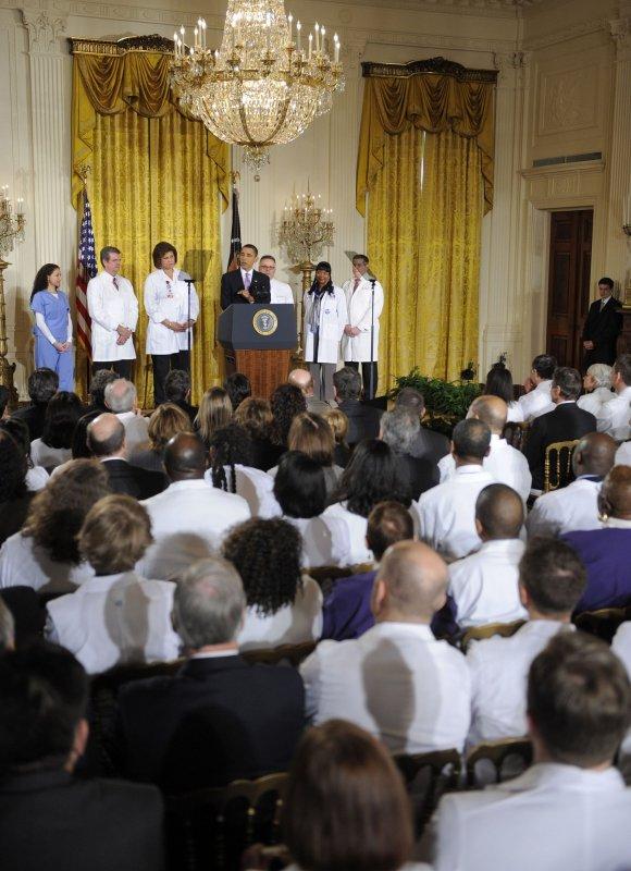 Doctor: Hidden medical school agenda' puts efficiency over patients. UPI/Mike Theiler