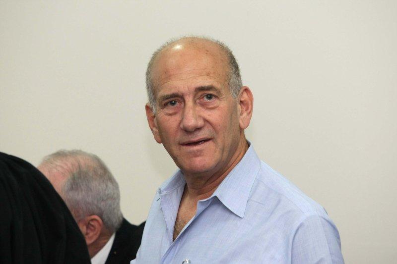 Former Israeli Prime Minister Ehud Olmert, shown Sept. 25, 2009. UPI/Amit Shabi/Pool..
