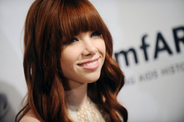 Carly Rae Jepsen arrives on the red carpet at the amfAR Inspiration Gala at The Plaza in New York City on June 13, 2013. UPI/Dennis Van Tine