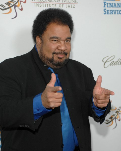 Jazz Artist George Duke gestures to photographers Sunday evening at the Kodak Theater. George Duke arrived to attend the Thelonious Monk Jazz Competition and Tribute Concert to Herbie Hancock on October 28, 2007 in Los Angeles. (UPI Photo/Scott Harms)
